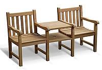 Лавочка скамья со спинкой 1740 х 520 мм от производителя Garden park bench 22