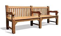 Лавочка скамья со спинкой 2240 х 580 мм от производителя Garden park bench 23