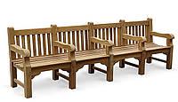 Лавочка скамья со спинкой 2840 х 580 мм от производителя Garden park bench 24