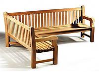 Лавочка скамья со спинкой 2400 х 690 мм от производителя Garden park bench 25