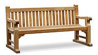 Лавочка скамья со спинкой 1800 х 550 мм от производителя Garden park bench 29