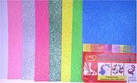 Флексика, фоамиран, бомик набор, цвета микс, с глиттером самоклеящийся №0267-8
