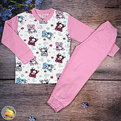 Пижама интерлок для девочек Возраст: 5,6,7,8 лет (9392)