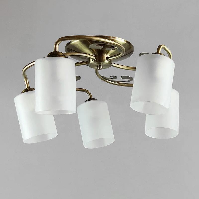 Люстра потолочная на пять ламп NM-814264/5 AB WT бронза