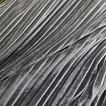 Ткань бархат стрейч серый плиссе, фото 2