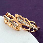 Жіноче кільце Гілочка з медичного золота Xuping