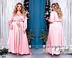 Платье шёлковое на запах длинный рукав макси 48-50,52-54,56-58,60-62, фото 2