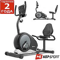 Горизонтальный велотренажер Hop-Sport HS-040L Root черно-серый