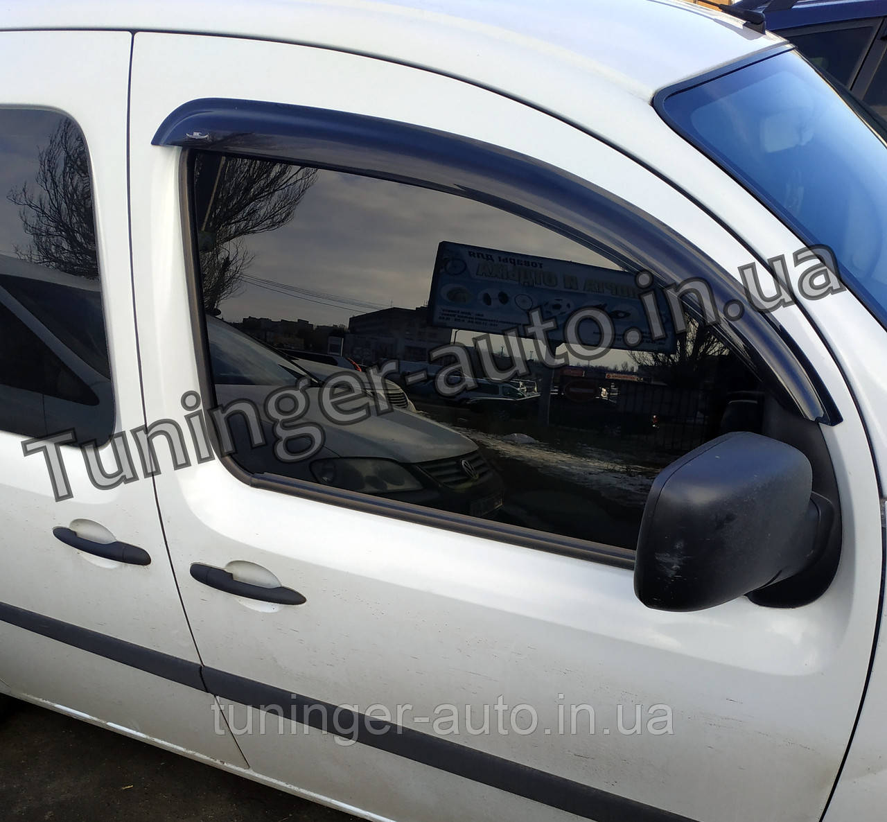 Ветровики, дефлекторы окон Renault Kangoo 2008-/2013- (Hic)