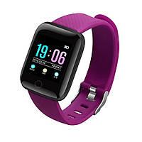 Умные смарт часы Smart Watch MSD13 с тонометром. Фитнес браслет трекер Фиолетовые. Розумний смарт годинник
