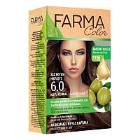Крем-краска для волос без аммиака Farmasi пр-ва Турция 6.0 Темно-русый - 4,73 ББ / Far - 7090230