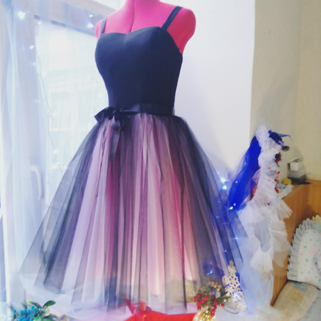 Выпускное платье амбре. Любой размер. Онлайн ателье. Сидит идеально на фигуре.