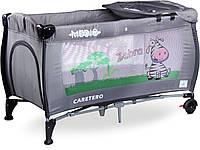 Детская кровать манеж Caretero Medio Grey, фото 1