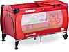 Детская кровать манеж Caretero Medio Red