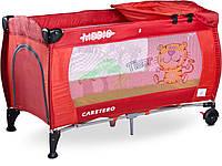 Детская кровать манеж Caretero Medio Red, фото 1