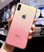Чехол Glass Shine для Iphone 6  Yellow-Pink