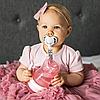 Пустышка BabyOno Соска симметричная , 3-6 мес., силикон, Розовый кролик, 2 шт., фото 3
