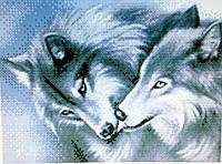 Схема для вышивки бисером.Вовки. Поцілунок.СКК-009