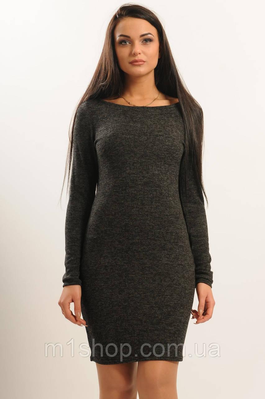 Женское теплое платье-футляр (Виола ri)