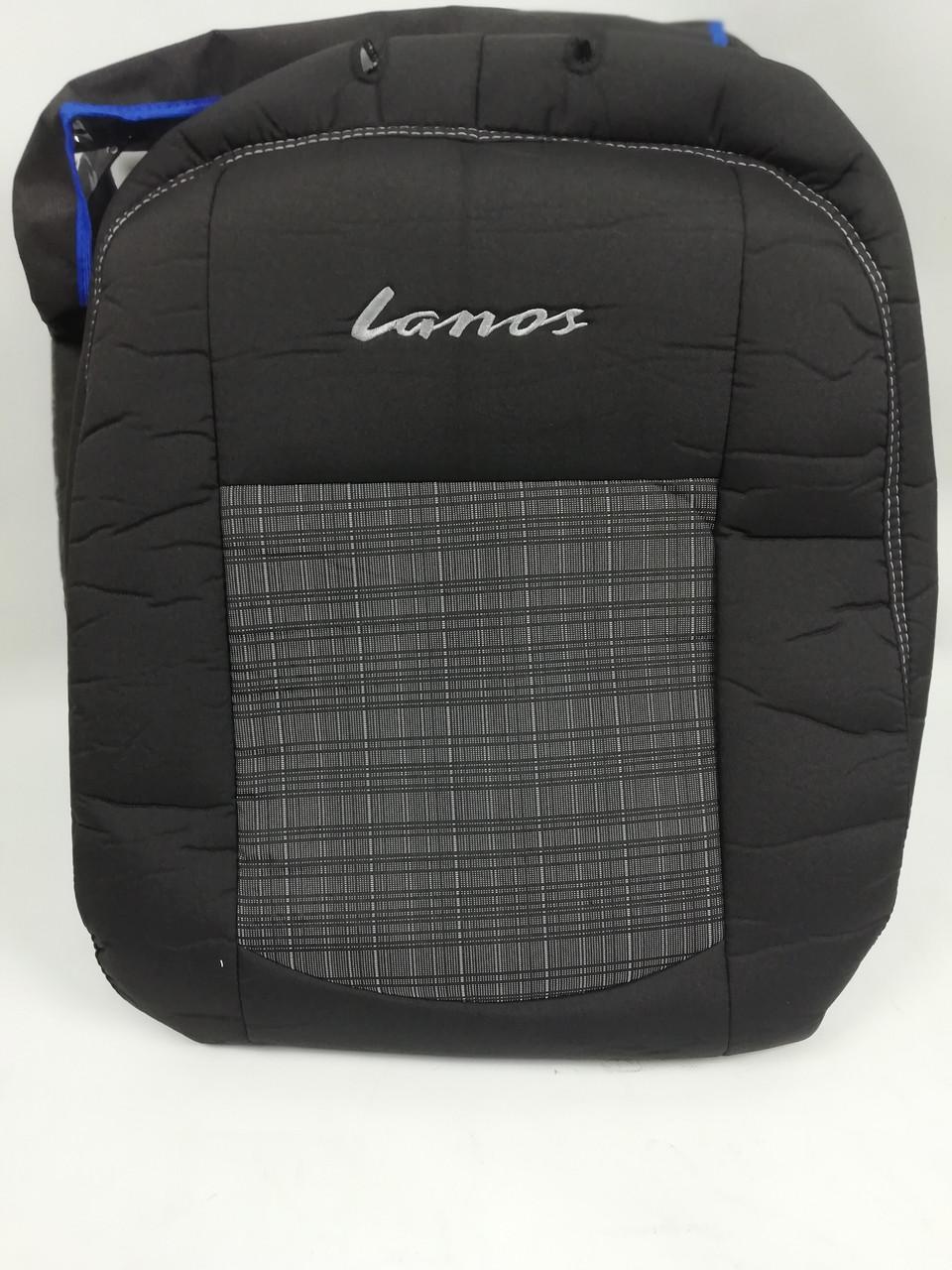 Автомобильные чехлы на Daewoo Lanos / Sens из авто ткани.