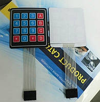 Клавиатура мембранная, 4х4 матрица, для Arduino