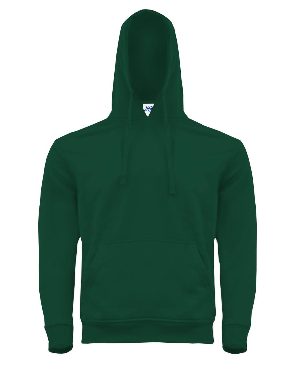 Мужская толстовка с капюшоном JHK KANGAROO цвет темно-зеленый (BG)