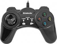 Проводной геймпад Defender Vortex PC Black