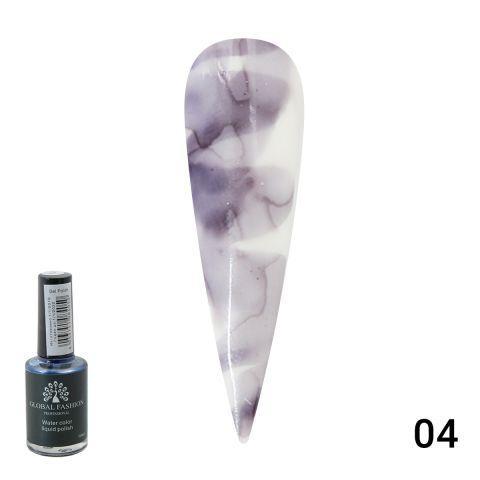 Акварельні краплі Global Fashion 10 ml 004 — Water color liquid polish