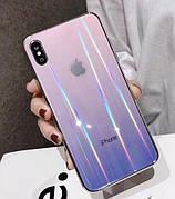 Чехол Glass Shine для Iphone 11 Pro Pink-Purple