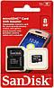 MicroSD флешка для телефона SanDisk microSDHC 8Gb Class 10 | карта памяти для телефона