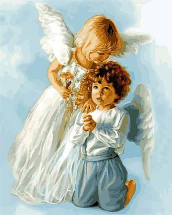 Набор-раскраска по номерам Ангельские дети худ Кук, Сандра, фото 2