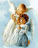 Набор-раскраска по номерам Ангельские дети худ Кук, Сандра