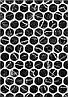 400х275 Керамическая плитка стена Помпеи 1 тип 1 чёрный