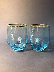 Склянка для напоїв з блакитного скла Кристал 450 мл