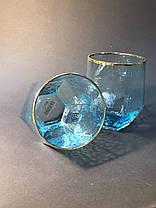 Стакан для напитков из голубого стекла Кристалл 450 мл, фото 2
