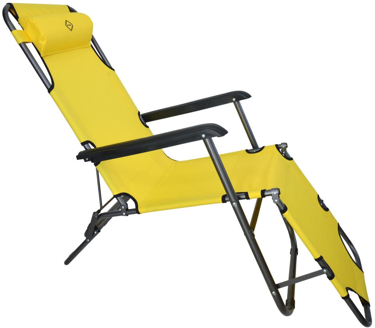 Шезлонг лежак Bonro 178 см желтый (70000010)