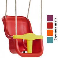 Качели детские подвесные «Люкс» со спинкой KBT Бельгия (гойдалка дитяча підвісна зі спинкой Бельгія)