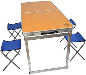 Розкладний стіл для пікніка зі стільцями Bonro модель C (90000001)