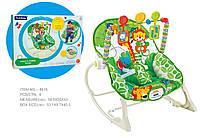Детский шезлонг-качалка 8616 2в1 0-18кг вибрац.мелод.