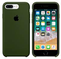 Силиконовый Чехол накладка на iPhone 7 Plus/8 Plus Silicone Case Olive ( чехол айфон 7 Plus/8 Plus )