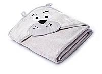 Детское махровое полотенце с уголком Sensillo Water Friends Grey (29629), фото 1
