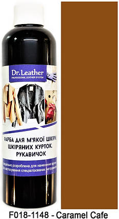 "Фарба для м'якої шкіри 250 мл.""Dr.Leather"" Touch Up Pigment Caramel Cafe, фото 2"