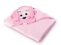 Дитячий махровий рушник з куточком Sensillo Water Friends Pink (02595), фото 1