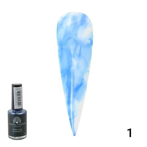 Акварельные капли Global Fashion 10 ml 010— Water color liquid polish