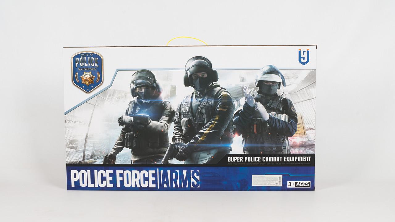Набор полицейского P013. Автомат трещотка. Маска и бронежилет.