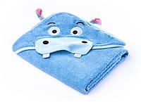 Детское махровое полотенце с уголком Sensillo Water Friends Blue (24181), фото 1