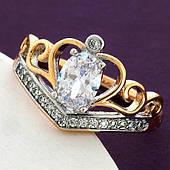 Женское кольцо Корона из медицинского сплава Xuping. Размер 18