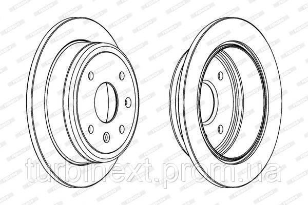 Тормозной диск задний CHEVROLET LACETTI 05-, DAEWOO NUBIRA 03- (OE 96549630) FERODO DDF1606