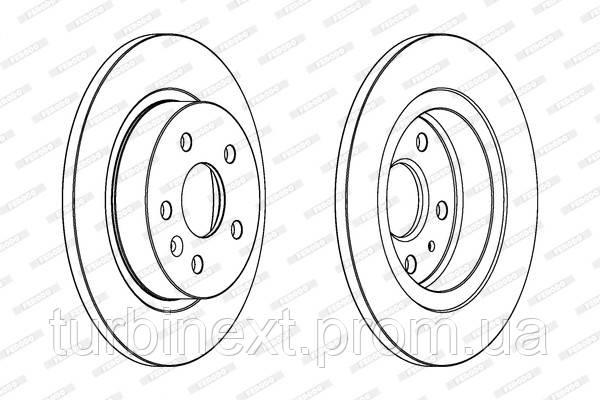 Тормозной диск задний CHEVROLET CRUZE 1.6-2.0CDI 09-, OPEL ASTRA J 1.3-2.0 09- 15' FERODO DDF1872C