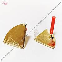 Швензы-гвоздик веер 23х16 мм золото для рукоделия